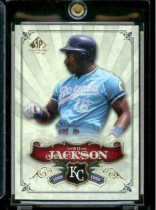 2006 Upper Deck SP Legendary Cuts # 97 Bo Jackson - Kansas City Royals - Baseball Trading Card ()