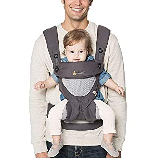 Ergobaby Baby Carrier for Toddler, 360 Cool Air Carbon Grey, 4-Position Ergonomic Child Carrier and Backpack 14