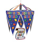 Beistle 50128-Mc Congrats Grad Pennant Chandelier, 11 X 1/42-Inch X 17 X 1/42-Inch, Multicolored