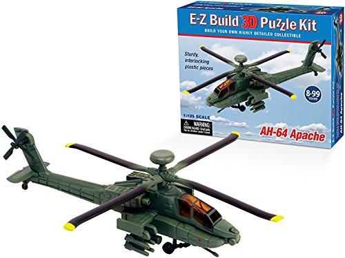E-Z Build 3D Puzzle Kit - AH-64 Apache Helicopter