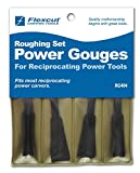Flexcut Carving Tools, High-Carbon Steel, Roughing Power Gouge Tools, Set of 4 (RG404)