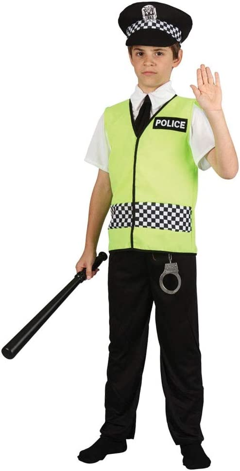 Boys Victorian Policeman Fancy Dress Up Party Costume Halloween Child Outfit