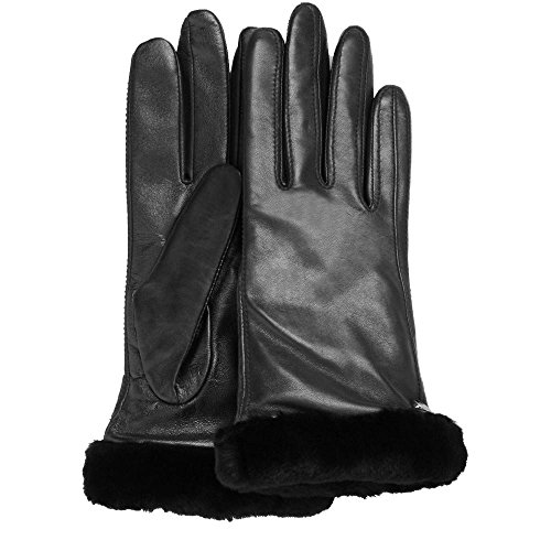 UGG Women's Classic Leather Smart Glove Black LG by UGG