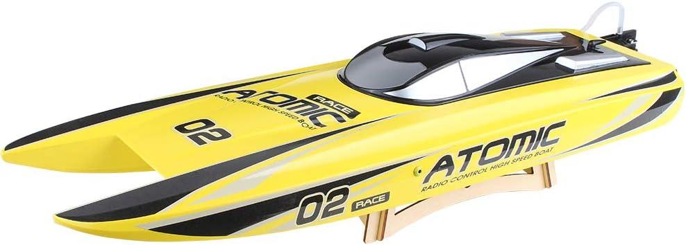 RC Boat Lanchas Teledirigidas Barco Radiocontrol 2.4G Barco RC Sin Escobillas, Barcos De Carreras De Control Remoto Para Piscinas Y Lagos, 60 Km / H Juguetes De Barco De Velocidad Al Aire Libre Aventu