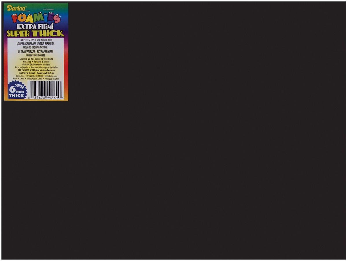 Bulk Buy: Darice Foamies Extra Thick Foam Sheet Black 6mm thick 9 x 12 inches (10-Pack) 1199-21