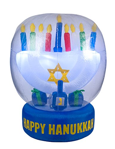 Hanukkah Inflatable Menorah & Dreidel - 5' Tall (Inflatable Menorah)