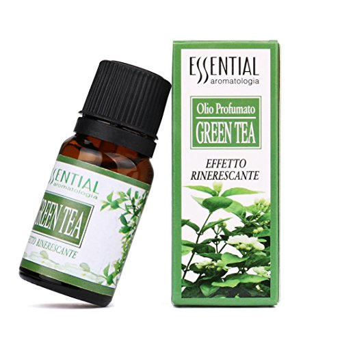Tea Essential Green Oil (Misaky Good Night Essential Oil 100% Pure, Best Therapeutic Grade - 10ml - Lemon Strawberry Lavender Sandalwood Green Tea Violet (Green Tea))