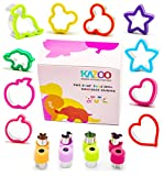 Kazoo Cutters for Kids-5 Sandwich Cutters, 5 Cookie Cutters and Bonus 8 Vegetable/Fruit Cutters