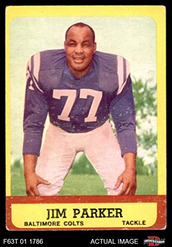 1963 Topps # 5 Jim Parker Baltimore Colts (Football Card) Dean's Cards 3 - VG Colts
