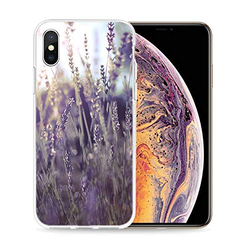 1 piece Transparent Soft Silicone Phone Case Simple lavender Purple flowers for iPhone XS X XR Max 8 7 6 6S Plus 5 5S SE Phone Bag (4g Nano Crystal Case)