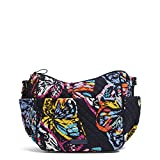 Vera Bradley Iconic On The Go Crossbody, Signature Cotton, Butterfly Flutter