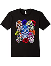 Sugar Skulls and Roses T-shirt, Mardi Gras Shirt, Skull Tee
