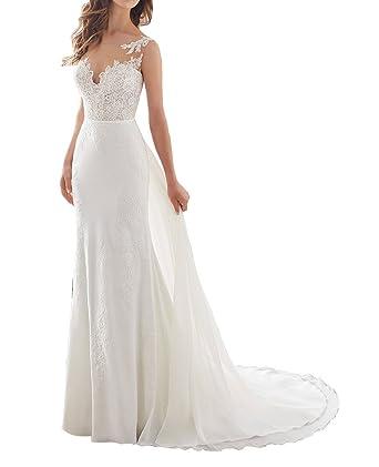 3fa2720e6617d Kevins Bridal Vintage Beach Wedding Dresses 2017 Lace Mermaid Long Bridal  Gowns Ivory Size 2