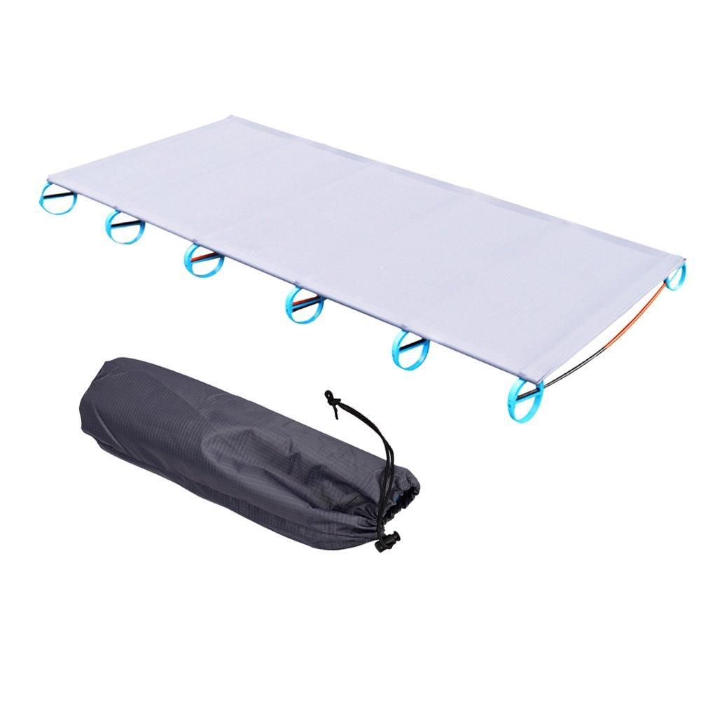 Alian Ultralight Campingbett Feldbett (1805810cm), Oder Zelt Bett Ersatz Aluminiumlegierung für Indoor Outdoor Camping Wandern Angeln
