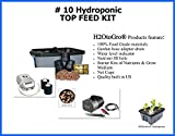 DWC Hydroponic SELF-WATERING Bubbler ~ # 10, 6 Site by H2OtoGro