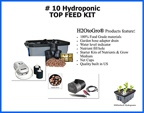 DWC Hydroponic SELF-WATERING Bubbler ~ # 10, 6 Site by H2OtoGro by H2OToGro
