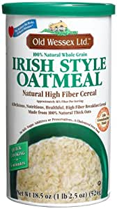 Old Wessex Ltd. Irish Style Oatmeal, 18.5-Ounce Canisters (Pack of 12)