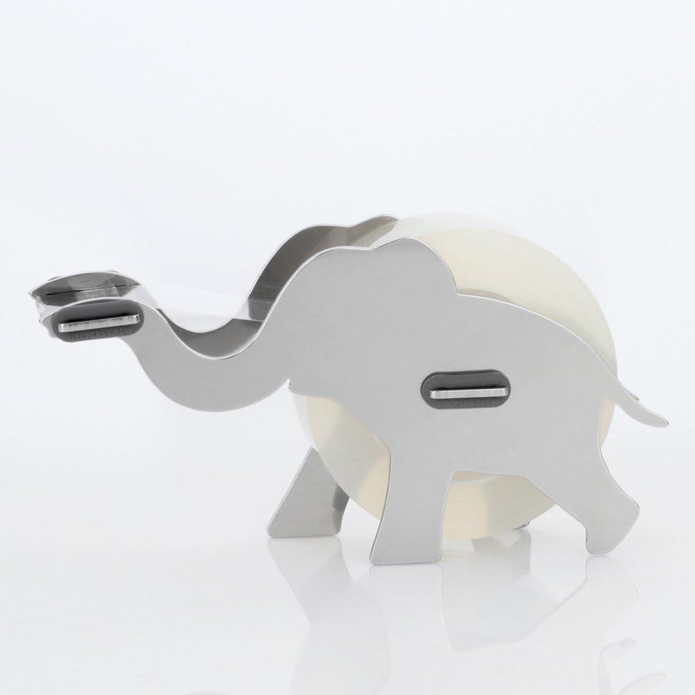 Elephant Design Desktop Hand Stainless Steel Metal DIY Tape Dispenser