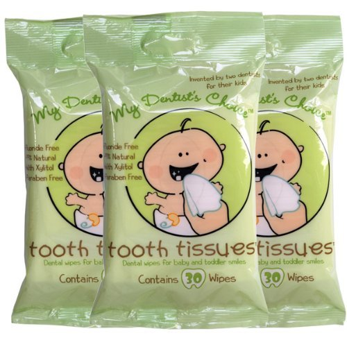 Tooth Tissues- Dental Wipes for Baby & Toddlers - 3 Pack