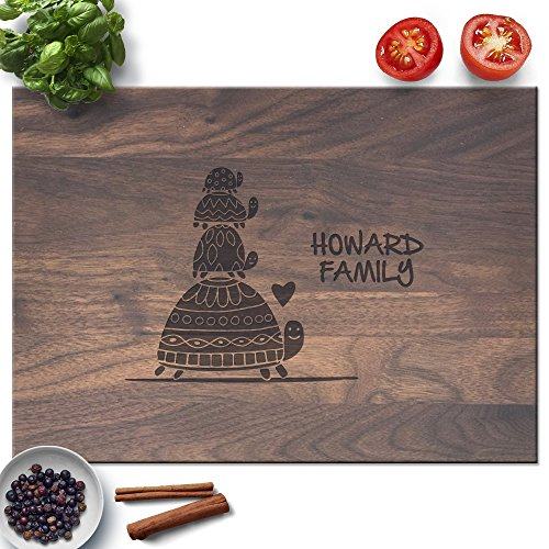 Froolu Turtle Family personalized cutting boards for Realtors Closing Gifts Turtle Bar