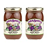 Jake & Amos Apple Butter, No Sugar Added - (2) 16 Ounce Jars