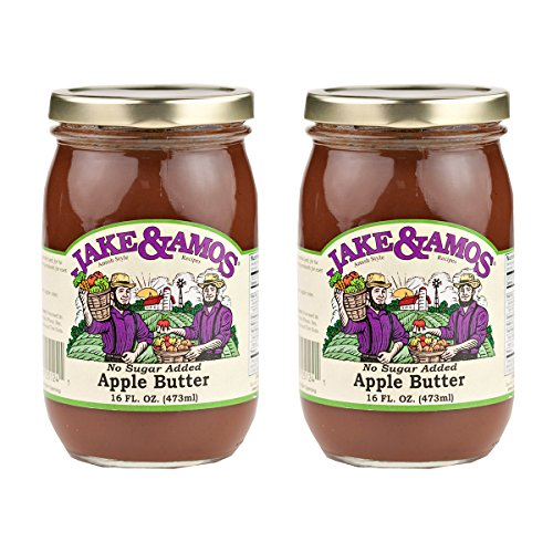 Jake & Amos Apple Butter, No Sugar Added - (2) 16 Ounce Jars ()