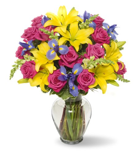 Flowers Relish - Benchmark Bouquets Joyful Wishes, With Vase