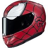 HJC Helmets Marvel Unisex-Adult Full-Face Helmet (Red/Black/Silver, Large) (RPHA-11 Pro Spiderman MC-1F)