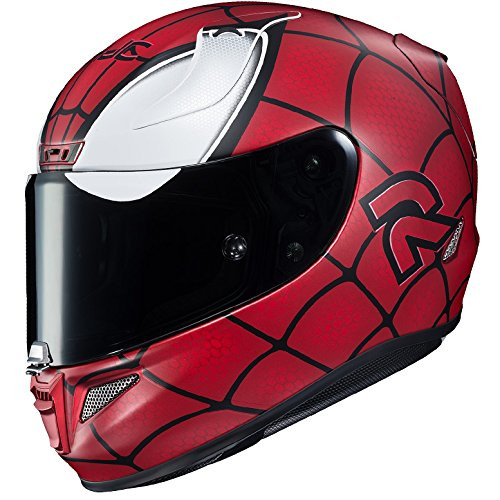 Amazon.com: HJC Helmets Marvel Unisex-Adult Full-Face Helmet (Red/Black/Silver, Medium) (RPHA-11 Pro Spiderman MC-1F): Automotive