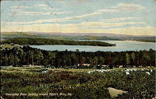 - Clearwater Pond looking toward Allen's Mills Allen's Mills, Maine Original Vintage Postcard