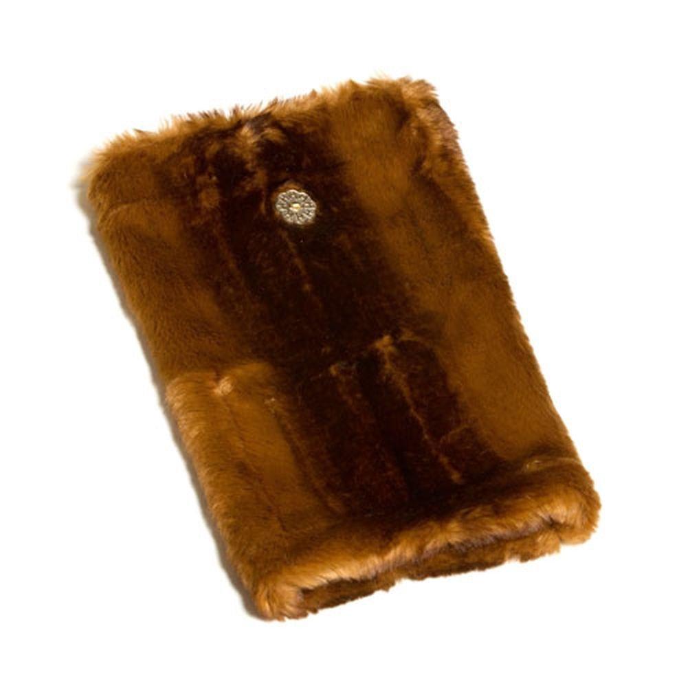 Huggrz Junior Womens Brown Beaver Faux Accessories Boot Wraps