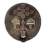 NOVICA Decorative Ghanaian Sese Wood Mask, Red and Brown 'African Circles' Review