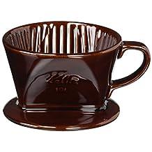 Kalita Ceramic Coffee Dripper 101 - Lotto Brown # 01003 (japan import)