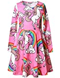 Unicorn Dresses for Girls 7-16 Birthday Party Gift Clothes Pink Jxstar