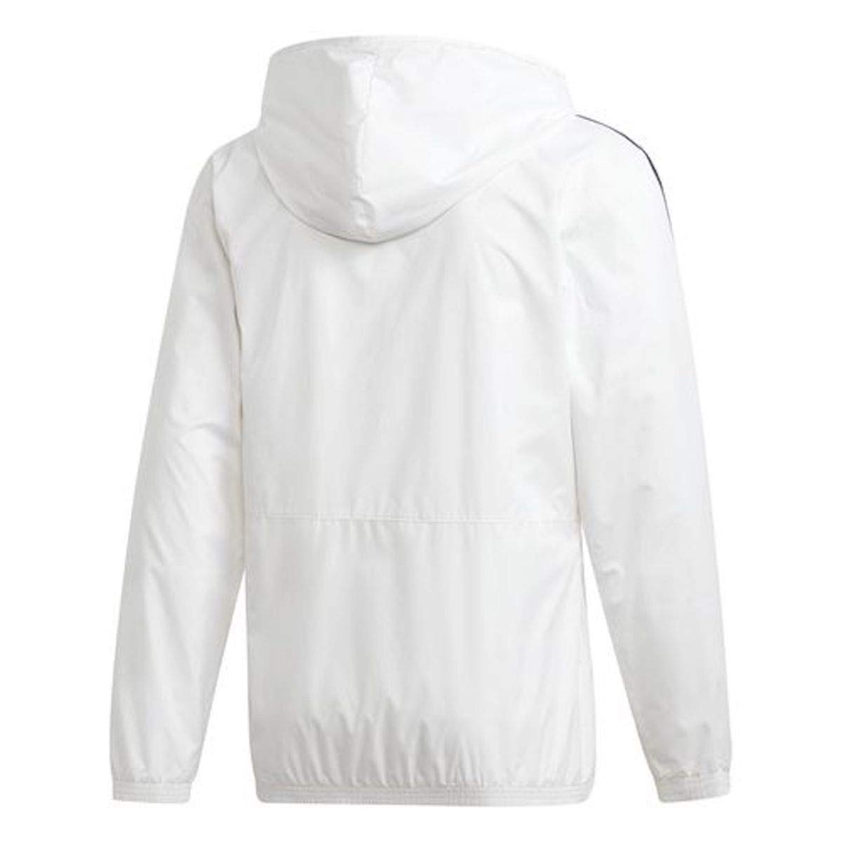 adidas Men's Essentials Wind Jacket (Medium, White/Grey) by adidas (Image #2)