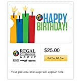 Regal Cinemas Happy Birthday Gift Cards - Email Delivery