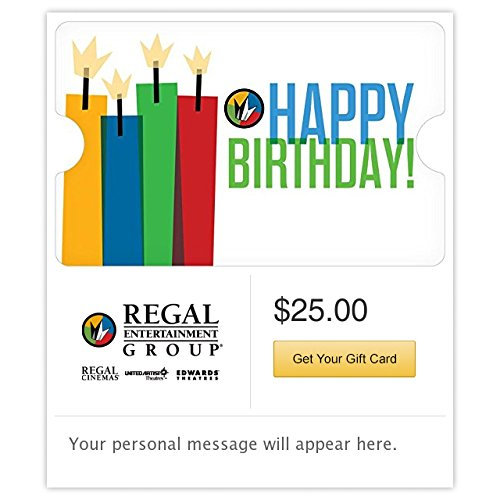 - Regal Cinemas Happy Birthday Gift Cards - E-mail Delivery