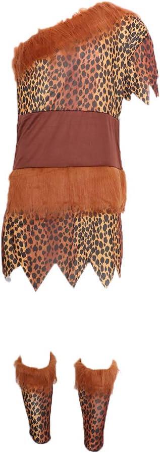 Traje de Disfraces de Aborigen Africano Indio Estampado Leopardo ...