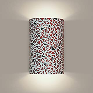 product image for A19 Impact Wall Sconce, 4-Inch by 6-Inch by 9.5-Inch, Matador Red