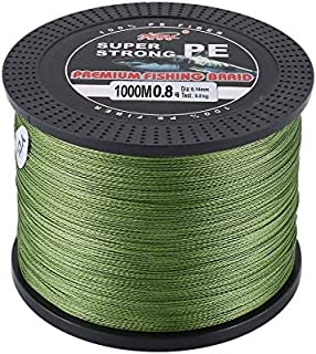 WEIHAN YUDELI 0.8 Line Number Super Strong 4 Strand 1000M Premium PE Braided Fishing Line Lake Multifilament Wire Woven Thread