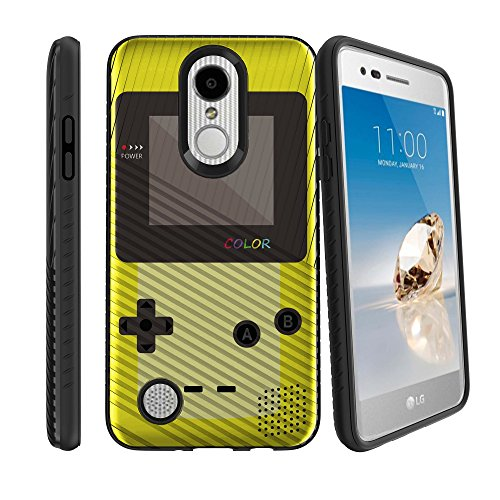 hot sale MINITURTLE Case Compatible w/ LG K4 2017, LG Rebel 2 LTE Easy Grip Texture Design Case for LG Aristo w/ Hybrid Silicone Layer Yellow Game Color