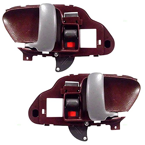 (Driver and Passenger Inside Inner Red Door Handles Replacement for Chevrolet GMC Pickup Truck 15708049 15708050)