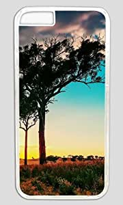 The Colorful Sky and Trees DIY Hard Shell Transparent Designed For iphone 4 4s Case