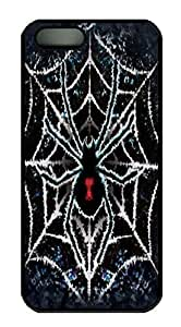 Covers Tie-Dye Spider Custom PC Hard Case Cover for iPhone 5/5S Black wangjiang maoyi