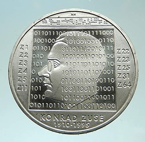 2010 unknown 2010 GERMANY Computer Whiz Konrad Zuse Genuine Pr coin Good Uncertified