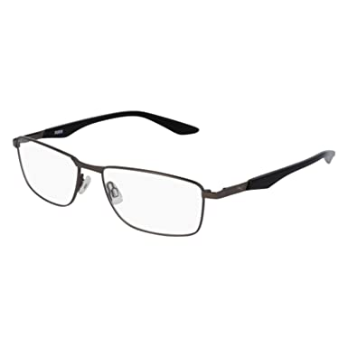 Eyeglasses Puma PU 0065 O- 007 RUTHENIUM/BLACK at Amazon Men\'s ...