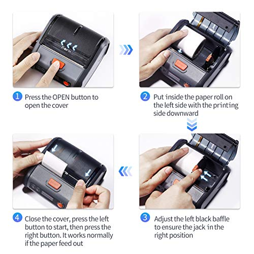 JINGCHEN Portable B3 Thermal Label Printer, Android & iOS, Glasses, Jewelry, Bracelets, Antiques, Barcode.(0.98x1.18+1.77in) 100 Labels/roll, 1 roll for Free by JINGCHEN (Image #6)