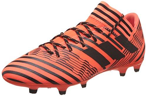 Scarpe Da Calcio Adidas Uomo Nemeziz 17,3 Fg, Bianche, Multicolore Eu (arancione Solare / Nero Nucleo)
