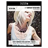 Tattify DIY Temporary Tattoo Paper 2 Pack For Laser Printers, Printable Long Lasting Custom Tattoos At Home, Sticker Transfer Sheets With Clear Instructions, Waterproof And Sweat Resistant