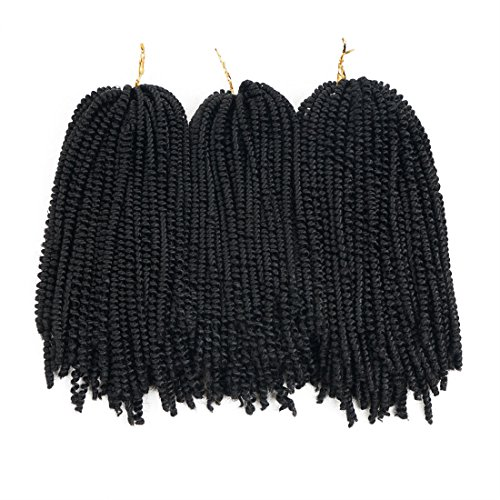 Nubian twist hair ombre color crochet braids fluffy twist hair extensions 3 packs/lot (8 inch) (#1b)